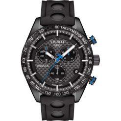 RABAT ZEGAREK TISSOT PRS 516 Chronograph T100.417.37.201.00. Czarne zegarki męskie TISSOT, ze stali. W wyprzedaży za 2464,00 zł.