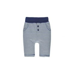 Steiff Spodnie Jogging sodalite blue. Niebieskie spodnie chłopięce marki Steiff, z aplikacjami, z bawełny. Za 89,00 zł.