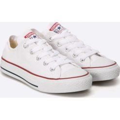 Converse - Tenisówki dziecięce. Szare buty sportowe dziewczęce Converse, z materiału, na sznurówki. W wyprzedaży za 169,90 zł.