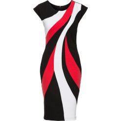 Sukienki: Sukienka kolorowa bonprix czarno-biało-czerwony