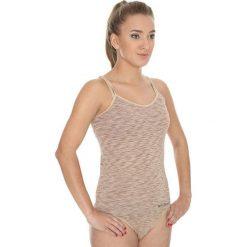 Bluzki sportowe damskie: Brubeck Koszulka damska Camisola Fusion beżowy r. XL (CM10110)