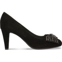 Czółenka FRIDA. Czarne buty ślubne damskie Gino Rossi, ze skóry, ze szpiczastym noskiem, na szpilce. Za 281,94 zł.