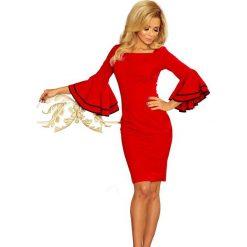 Kendra sukienka z hiszpańskimi rękawkami - CZERWONA. Niebieskie sukienki na komunię marki bonprix, na lato, w kwiaty, z asymetrycznym kołnierzem. Za 149,99 zł.