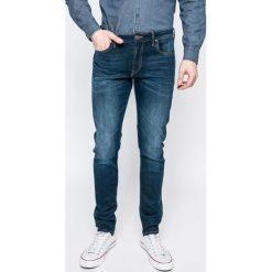 Lee - Jeansy Malone. Niebieskie jeansy męskie skinny marki Lee, z aplikacjami, z bawełny. W wyprzedaży za 269,90 zł.