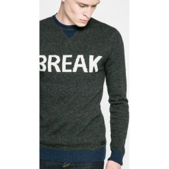 Blend - Sweter. Brązowe swetry klasyczne męskie marki Blend, l, z bawełny, bez kaptura. W wyprzedaży za 69,90 zł.