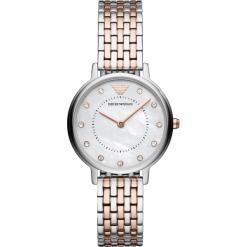 Zegarek EMPORIO ARMANI - Kappa AR11094  2-Tone/Silver/Rose Gold/Silver. Czerwone zegarki damskie Emporio Armani. Za 1149,00 zł.
