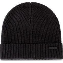 Czapka męska CALVIN KLEIN BLACK LABEL - Sahat Beanie K50K503630 001. Czarne czapki damskie marki Calvin Klein Black Label, z materiału. W wyprzedaży za 209,00 zł.