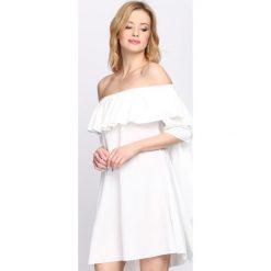Sukienki: Biała Sukienka Never Sleeps
