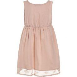 Sukienki dziewczęce z falbanami: Sisley DRESS Sukienka koktajlowa nude