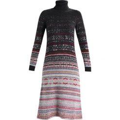 Sukienki dziewczęce dzianinowe: Benetton DRESS Sukienka dzianinowa dark gray melange