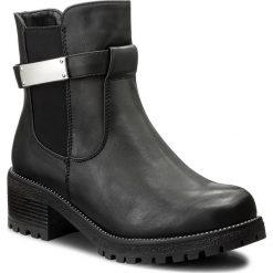 Botki JENNY FAIRY - WS1128-1 Czarny. Czarne buty zimowe damskie Jenny Fairy, z materiału, na obcasie. Za 129,99 zł.