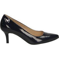 Czółenka - 1475 PEL BLU. Czarne buty ślubne damskie Venezia, ze skóry. Za 159,00 zł.