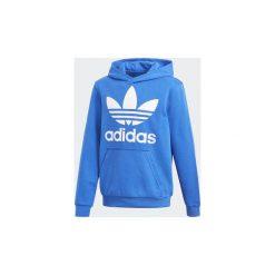 Bluzy dresowe Dziecko adidas  Bluza z kapturem Trefoil. Niebieskie bluzy chłopięce rozpinane marki Adidas, z dresówki. Za 229,00 zł.