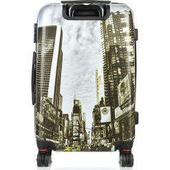 ŚREDNIA WALIZKA NA WAKACJE NEW YORK. Szare walizki marki producent niezdefiniowany, z kauczuku, średnie. Za 229,00 zł.