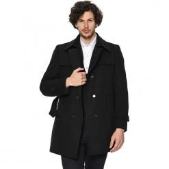 Płaszcz w kolorze czarnym. Czarne płaszcze zimowe męskie marki AVVA, Dewberry, m. Za 539,95 zł.