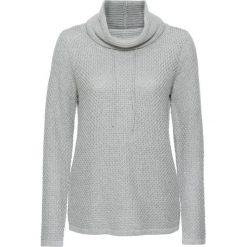 Sweter dzianinowy bonprix jasnoszary melanż. Szare golfy damskie bonprix, melanż, z dzianiny. Za 89,99 zł.