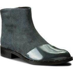 Botki BADURA - 7674-69-M Popiel 1297. Szare buty zimowe damskie Badura, z lakierowanej skóry. W wyprzedaży za 279,00 zł.