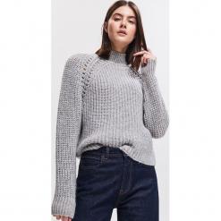 Sweter z domieszką wełny i moheru - Wielobarwn. Szare swetry klasyczne damskie Reserved, l, z wełny. Za 159,99 zł.