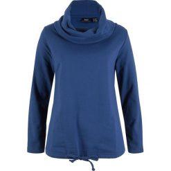 Bluza dresowa bonprix kobaltowy. Niebieskie bluzy damskie bonprix, z dresówki. Za 84,99 zł.