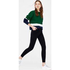 Boyfriendy damskie: Jeansy super skinny fit z wysokim stanem