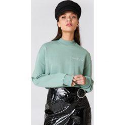 Bluzy damskie: NA-KD Trend Bluza Cool Girl – Green