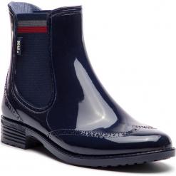 Kalosze XTI - 48361  Navy. Niebieskie buty zimowe damskie marki Xti, z materiału. Za 139,00 zł.
