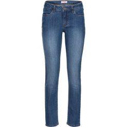 Dżinsy ze stretchem 7/8 bonprix niebieski. Niebieskie jeansy damskie marki House, z jeansu. Za 74,99 zł.