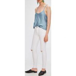 Answear - Jeansy. Białe jeansy damskie rurki marki ANSWEAR, z bawełny. W wyprzedaży za 69,90 zł.