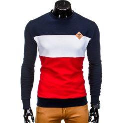 Bluzy męskie: BLUZA MĘSKA BEZ KAPTURA B701 – GRANATOWA
