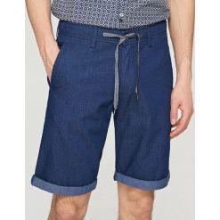Szorty z elastyczną talią - Granatowy. Niebieskie bermudy męskie Reserved. W wyprzedaży za 59,99 zł.