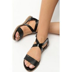 Rzymianki damskie: Czarne Sandały Spectrum