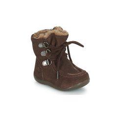 Kozaki Dziecko Kickers  BAMARA. Niebieskie buty zimowe chłopięce marki Kickers, z kauczuku, na sznurówki. Za 296,10 zł.