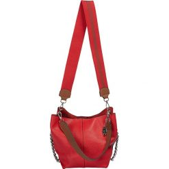 """Torebki klasyczne damskie: Skórzana torebka """"Miami"""" w kolorze czerwono-brązowym - 22 x 23 x 17 cm"""