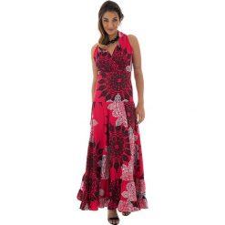 Odzież damska: Sukienka w kolorze czerwono-czarno-białym