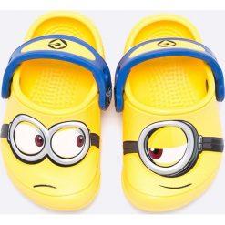 Crocs - Klapki dziecięce. Żółte klapki chłopięce marki Crocs, z materiału. Za 149,90 zł.