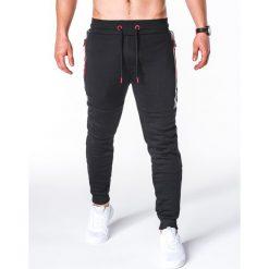 SPODNIE MĘSKIE DRESOWE P657 - CZARNE. Czarne spodnie dresowe męskie Ombre Clothing, z bawełny. Za 69,00 zł.