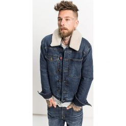 Kurtki męskie bomber: Dżinsowa kurtka w kolorze granatowym