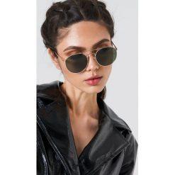 Le Specs Okulary przeciwsłoneczne Revolution - Gold. Brązowe okulary przeciwsłoneczne damskie aviatory Le Specs, okrągłe. Za 242,95 zł.