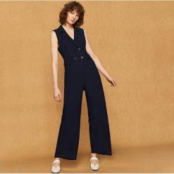 Odzież damska: Dwurzędowy kombinezon - Granatowy