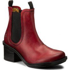 Botki FLY LONDON - Coopfly P144043003 Red. Czerwone buty zimowe damskie marki QUECHUA, z gumy. W wyprzedaży za 309,00 zł.