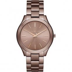 """Zegarek kwarcowy """"Slim Runway"""" w kolorze brązowym. Brązowe, analogowe zegarki damskie marki Michael Kors, ze stali. W wyprzedaży za 454,95 zł."""