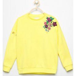 Bluzy dziewczęce: Bluza z haftem - Żółty