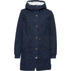 Płaszcz z podszewką barankiem bonprix ciemnoniebieski. Niebieskie płaszcze damskie bonprix. Za 189,99 zł.