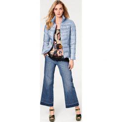 Odzież damska: Kurtka puchowa w kolorze błękitnym