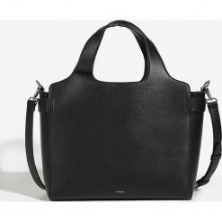 Parfois - Torebka. Czarne shopper bag damskie Parfois, w paski, z materiału, do ręki, duże. Za 119,90 zł.