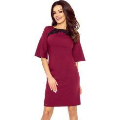 Sukienki: LISA klasyczna i wygodna sukienka bordo