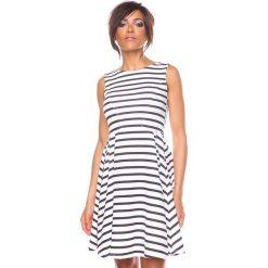 """Sukienki hiszpanki: Sukienka """"Marine"""" w kolorze czarno-białym"""
