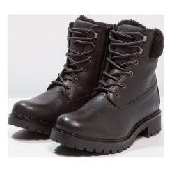 Mint&berry Botki sznurowane black. Czarne buty zimowe damskie mint&berry, z materiału, na sznurówki. Za 379,00 zł.
