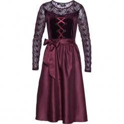 Sukienka ludowa aksamitna bonprix czarny bez. Fioletowe sukienki koronkowe marki DOMYOS, l. Za 169,99 zł.