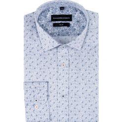 Koszula SIMONE KDWS000518. Szare koszule męskie na spinki Giacomo Conti, m, paisley, z bawełny, z włoskim kołnierzykiem, z długim rękawem. Za 169,00 zł.